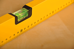 Spirit Level measuring base for aquarium