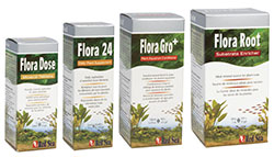 Product range of aquarium plant fertilisers and additives